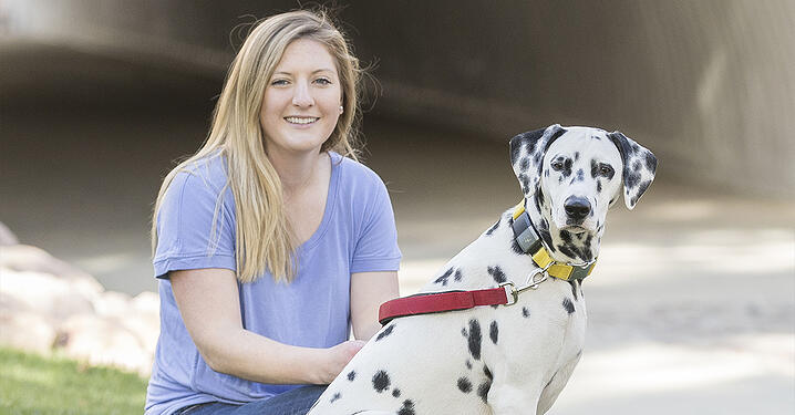 Shauna and Pongo, protected by Nationwide since 2020