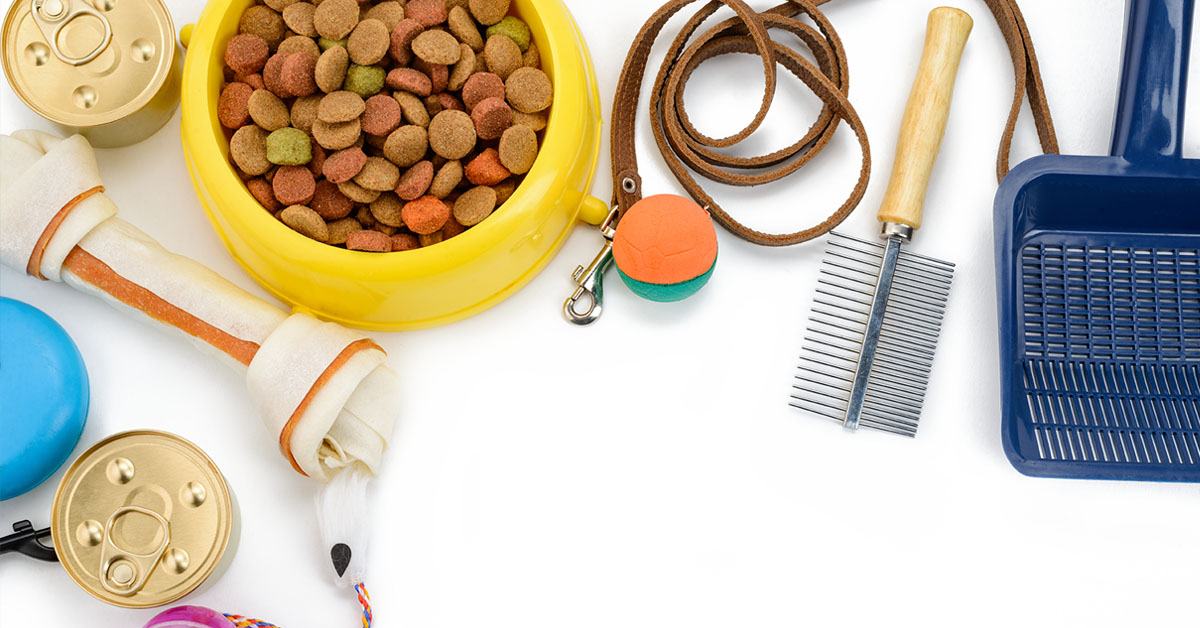Pet supplies for cats and dogs